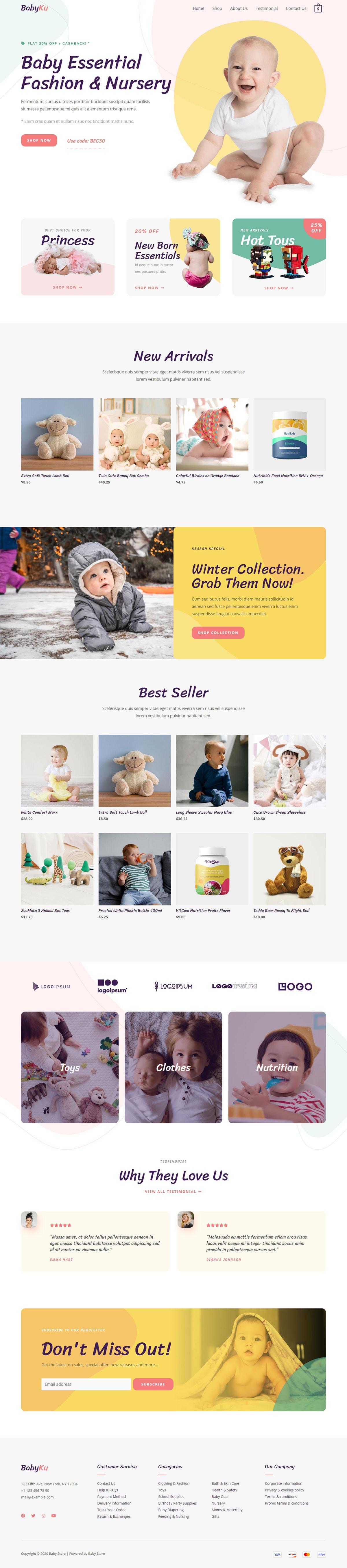 Готовый интернет-магазин товаров для детей. Создание сайтов в Костроме