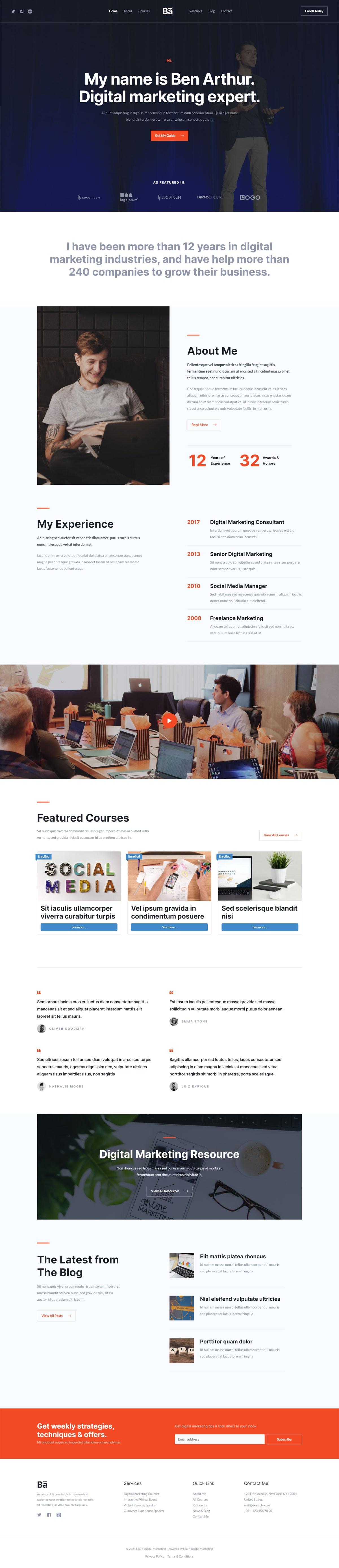 Готовый сайт онлайн курсов digital маркетинга. Создание сайтов в Костроме