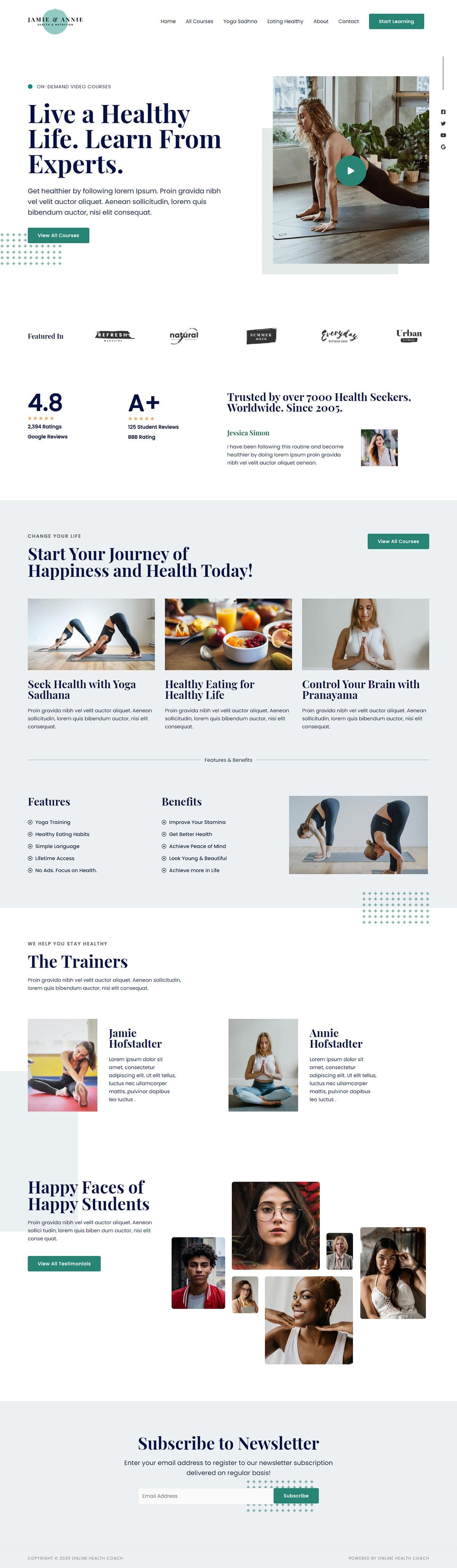 Готовый сайт онлайн курсов по психологии. Создание сайтов в Костроме