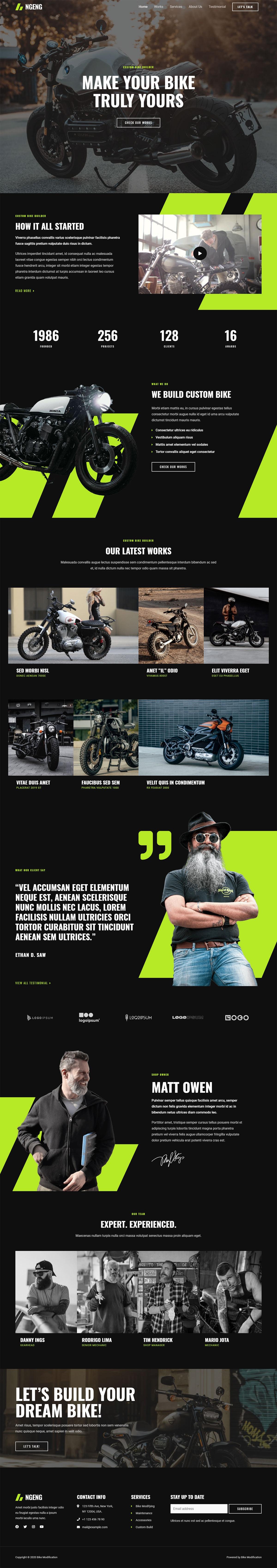Готовый сайт компании по тюнингу мотоциклов. Создание сайтов в Костроме
