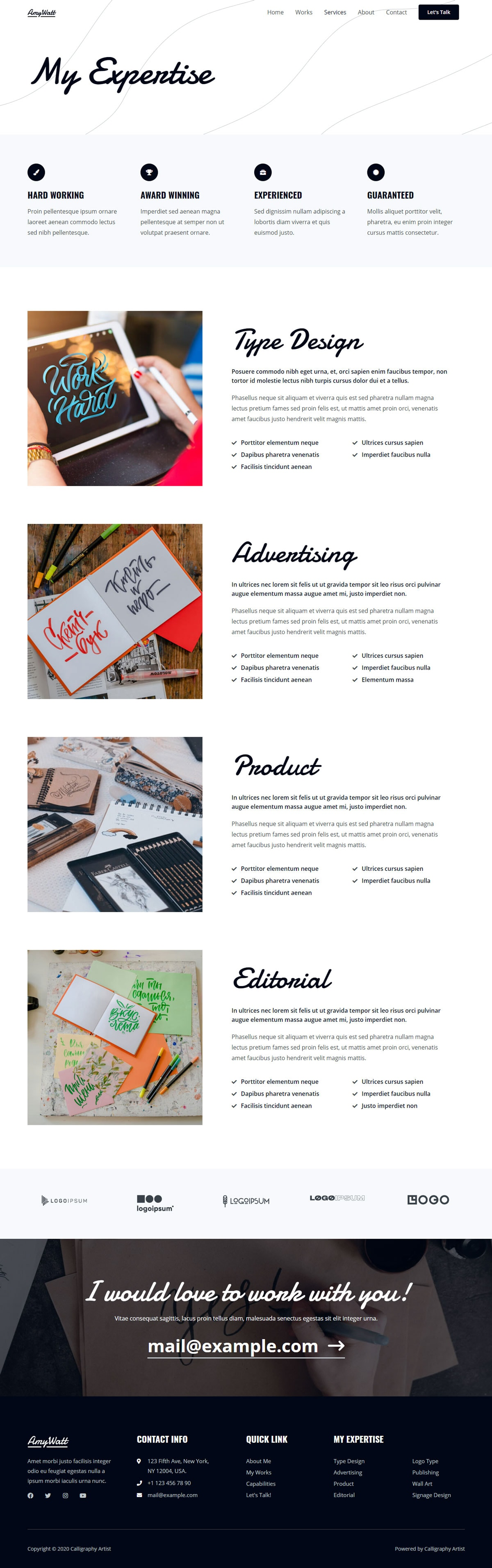 Готовый сайт калиграфиста. Создание сайтов в Костроме