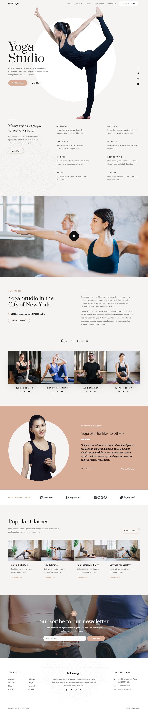 Готовый сайт студии йоги. Создание сайтов в Костроме